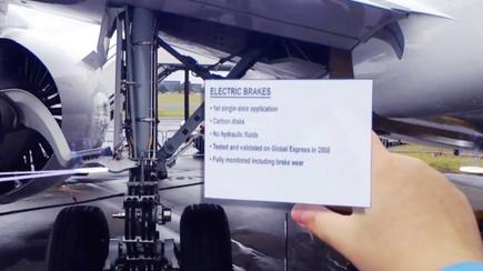 A visual example of how mixed reality is being applied to servicing equipment