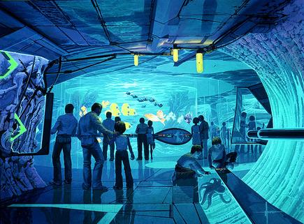 壁纸 海底 海底世界 海洋馆 水族馆 435_321