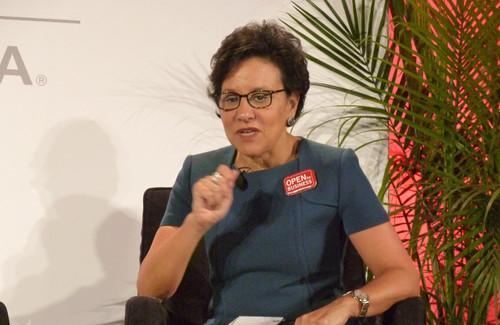 Penny Pritzker, US Secretary of Commerce speaks at CES in Las Vegas on January 8, 2014