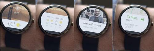 "Android Wear smartwatches will respond to the cue ""okay Google"" in the same way Google's Voice Search does. The device will be able to answer questions, action instructions and keep track of exercise goals."