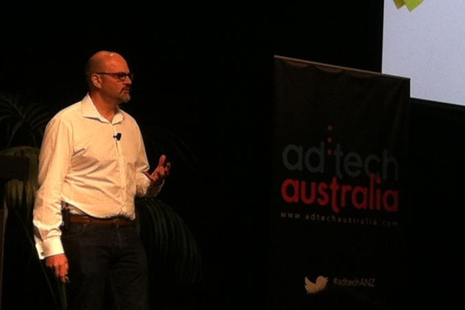 Owen Rogers speaking at today's ad:tech event at the Hilton, Sydney.