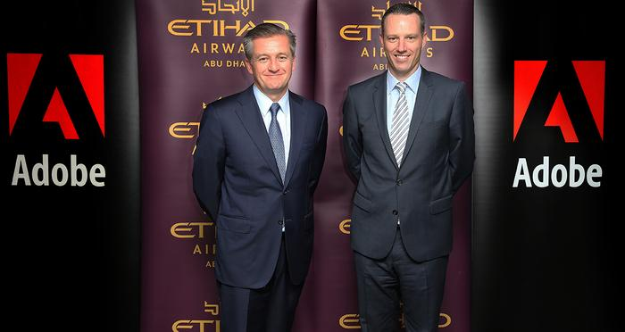 Etihad's Robert Webb (left) and Adobe's Paul Robson