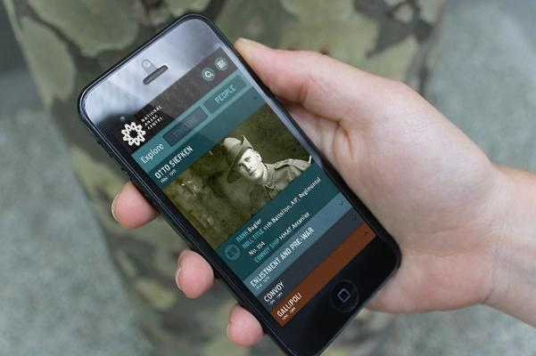 National Anzac Centre mobile website. Credit: Precedent