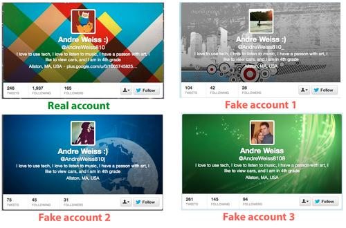 Spot the real Twitter account.