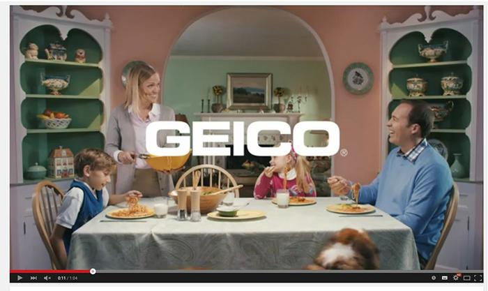 Pic of the Geico 'unskippable' pre-roll ad