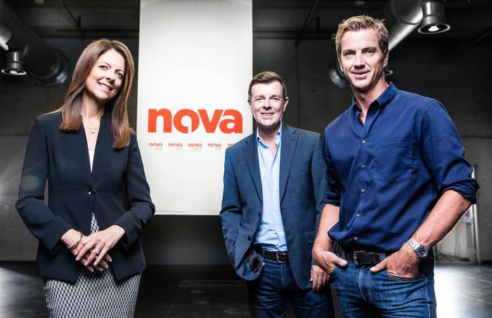 From left: Nova CEO, Cathy O'Connor, group program director, Paul Jackson, and chief marketing and digital officer, Tony Thomas