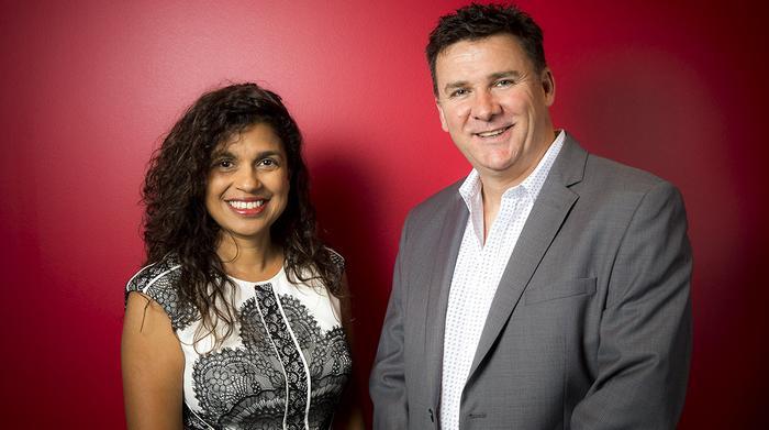 Sunita Gloster and Matt Tapper
