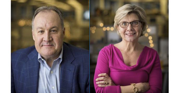 Larry Weber and Lisa Leslie Henderson